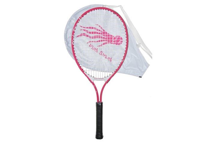 Pink Streak Junior Tennis Racquet - Strung with Cover