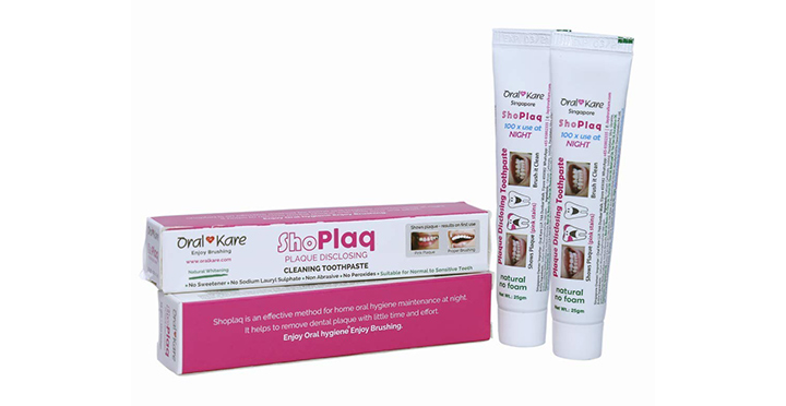 ShoPlaq - Plaque Disclosing Cleaning Toothpaste