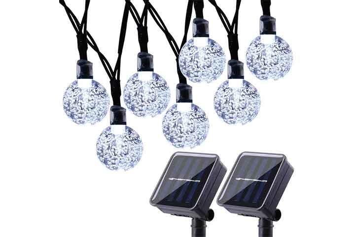 2-Pack Globe Solar String Lights by Joomer