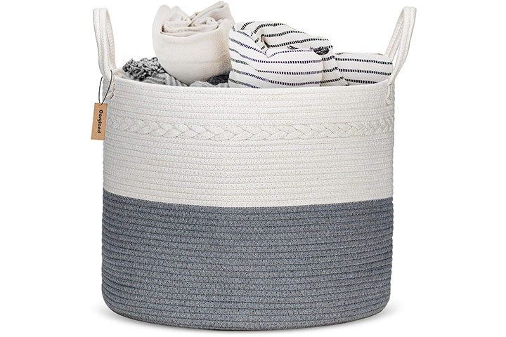 COSYLAND Cotton Rope Nursery Hamper