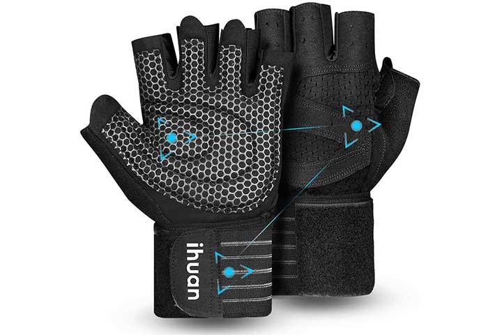 Ihuan Updated 2020 Ventilated Workout Gloves