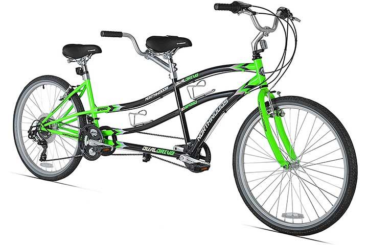 Kent International Northwoods Dual Drive Tandem Bike (GreenBlack)