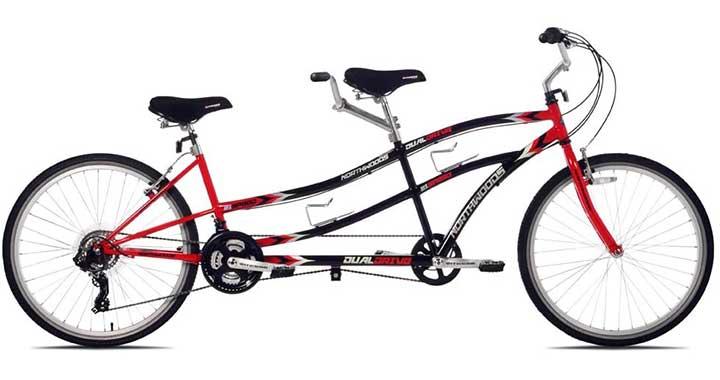 Kent Northwoods Dual Drive Tandem Bike (RedBlack)