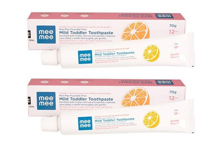 Mee Mee Fluoride-Free Orange Flavor Toothpaste