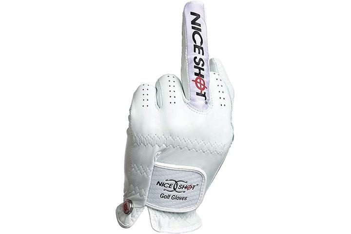 Nice Shot the Bird Cabretta Leather Golf Glove