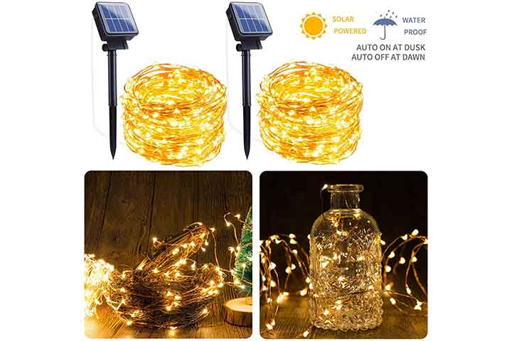 Outdoor Solar String Lights by Brightown store