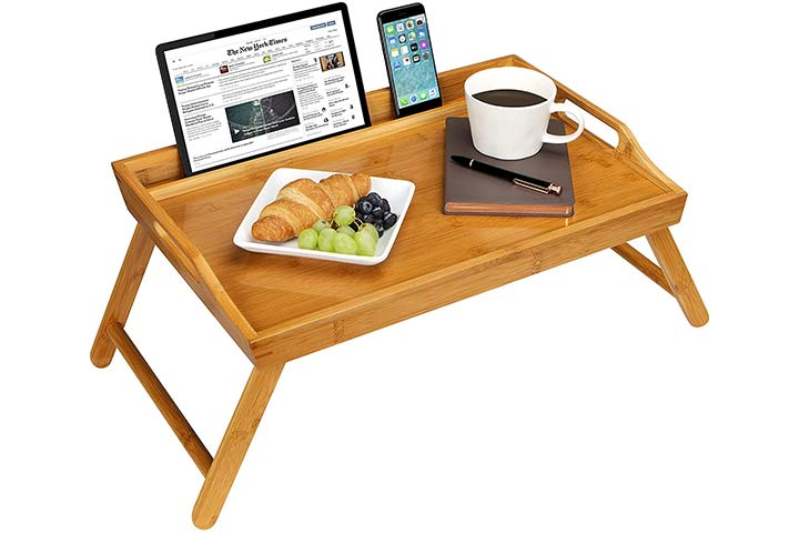 Rossie Home Media Bed Tray with Phone Holder