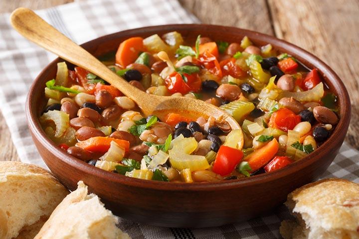 Three bean veggie soup