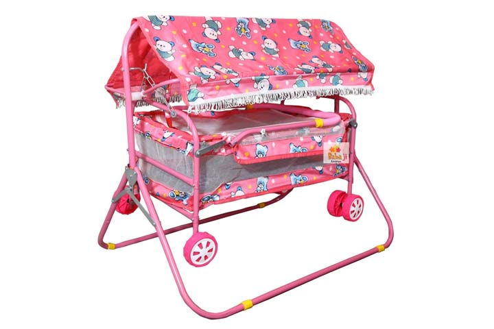 baba ji enterprises Steel Baby Swing Cradle