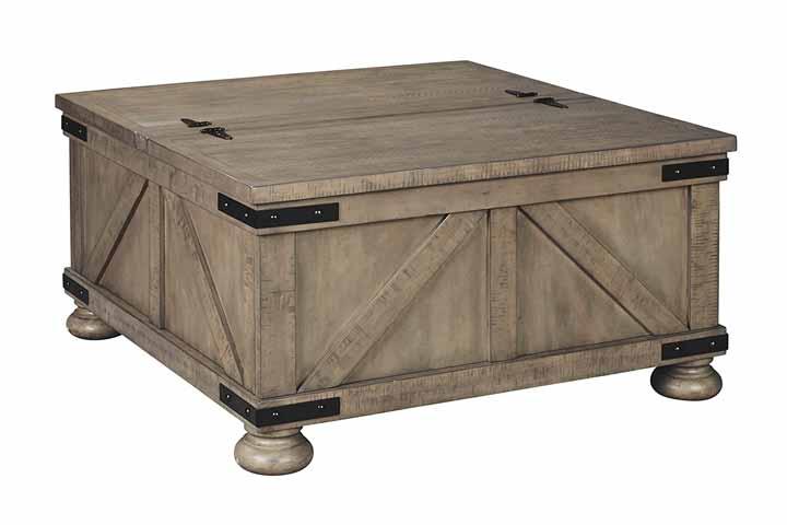 Ashley-Aldwin Farmhouse Storage Coffee Table