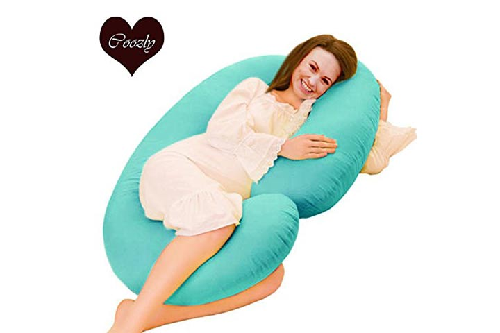 Coozly Premium Lyte C Shaped Pregnancy Pillow