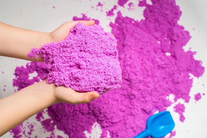 DIY Colored Kinetic Sand