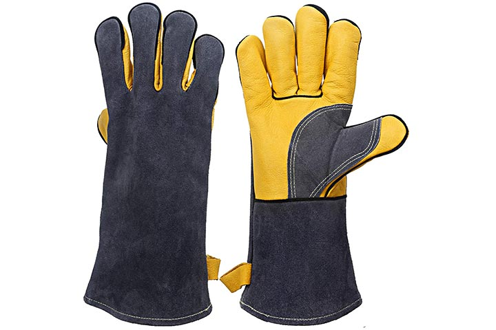 Kim Yuan Extreme HeatFire Resistant Gloves Leather with Kevlar Stitching