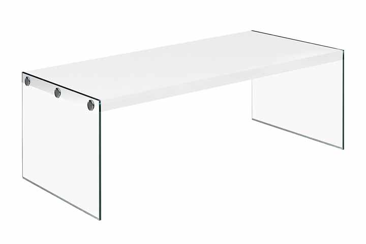 Monarch Specialties Tempered Glass Coffee Table