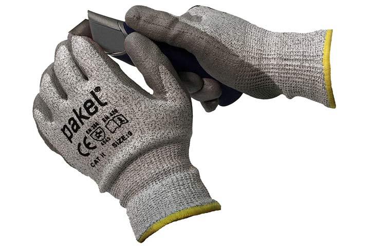 Pakel High Performance En388 CE Level 5 Cut Resistant Knit Wrist Gloves