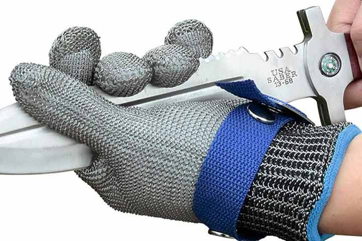 Schwer Level 9 Cut Resistant Glove Stainless Steel Mesh Gloves