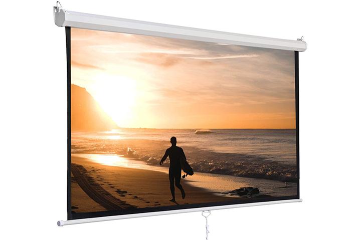 Super Deal 120-Inch Manual Projector Screen