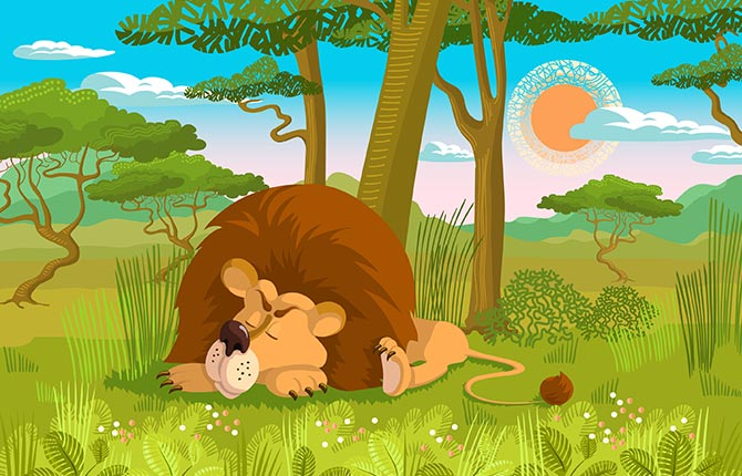 The Lion That Sprang To Life Story In Hindi