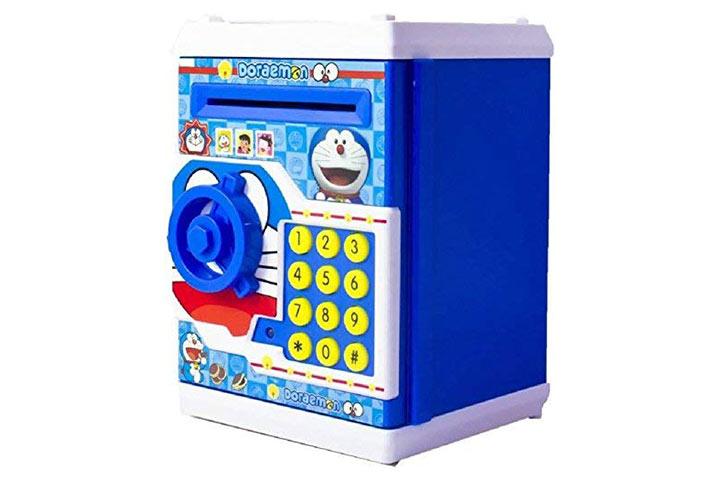 Von Steller Collection Kids Plastic Smart Lock Piggy Bank ATM