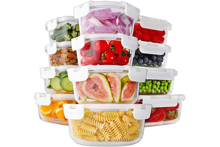 Bayco 24-Piece Glass Food Storage Containers