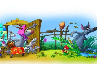 भेड़िया और बकरी के सात बच्चों की कहानी   Bhediya Aur Bakri Ke Sath Bache