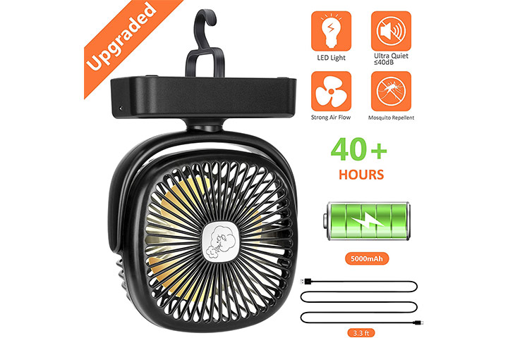 COMLIFE Portable LED Camping Lantern with Tent Fan