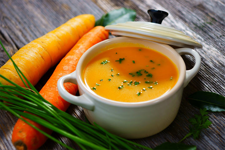 Carrot Apple and Onion Soup