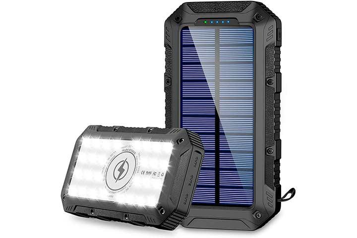 Grde Wireless Portable Solar Power Bank
