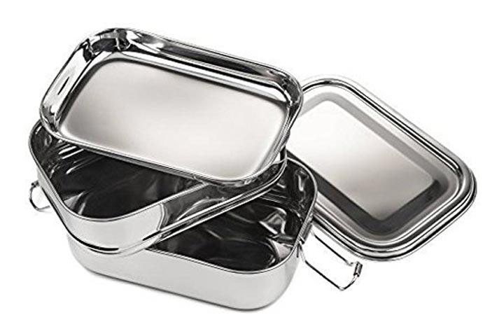 JVL Double Decker Rectangular Lunch Box