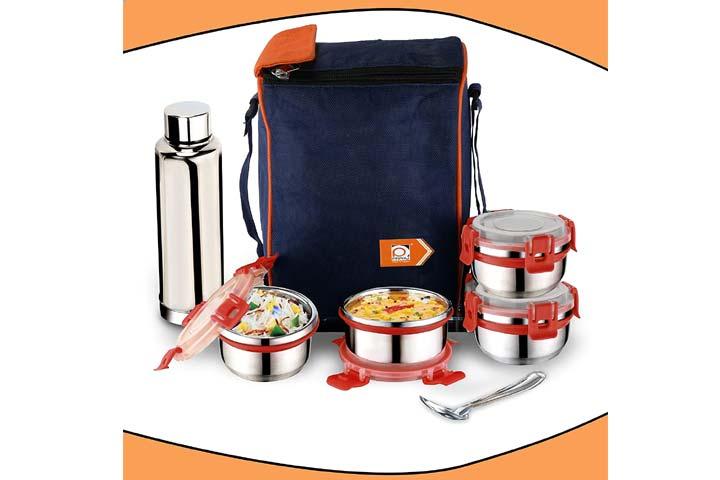 Priyaj Stainless Steel Lunch Box Set