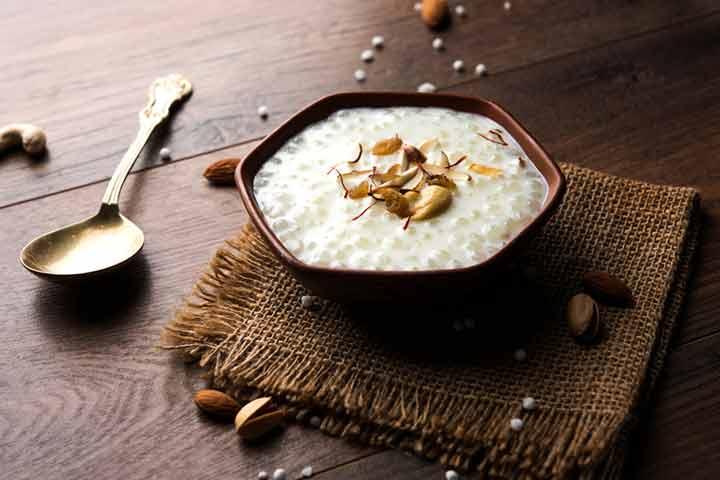 Sabudana kheer (Sabudana porridge) (12 months+)