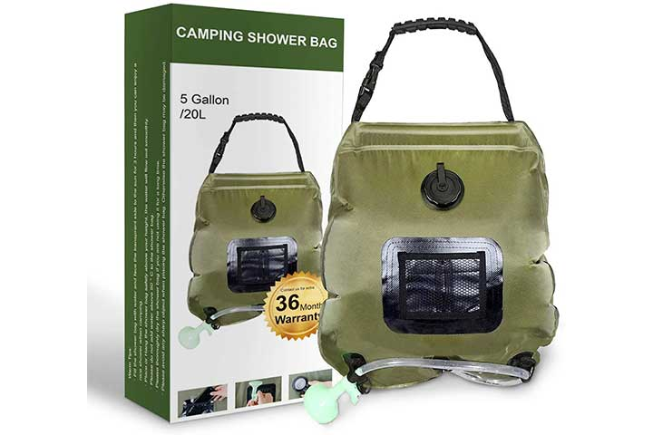 Solar Camping Shower Bag By Trofoty