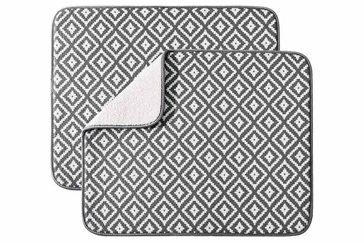 Subekyu Microfiber Dish Drying Mat