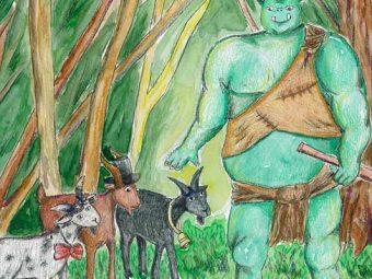 तीन बकरे भाई ग्रफ्फ की कहानी   The Three Billy Goats Gruff Story In Hindi