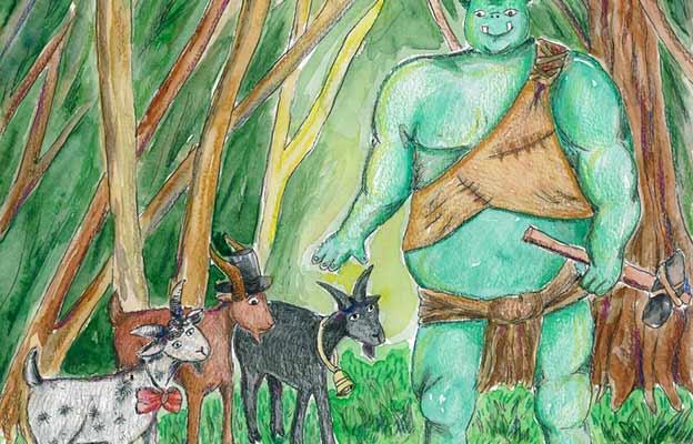 the three billy goats gruff story in hindi