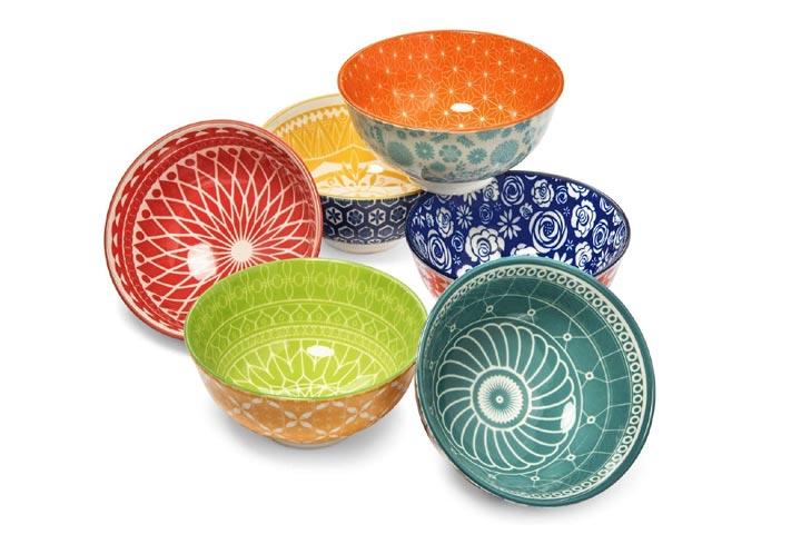 Annovero Porcelain Dessert Bowls