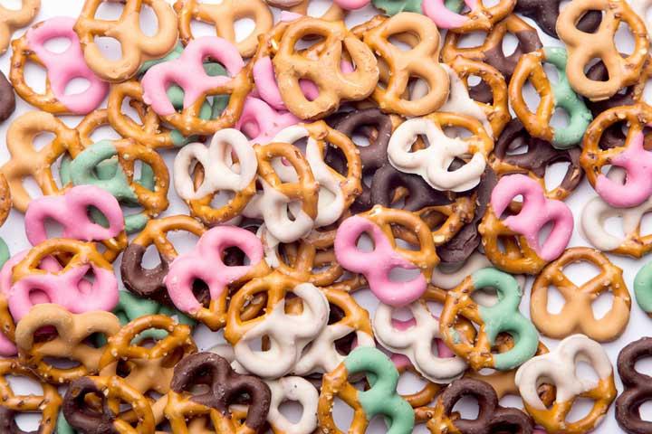 Bite-sized pretzels