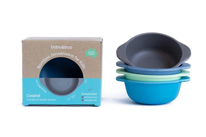 Bobo-Boo Bamboo Kids Snack Bowls