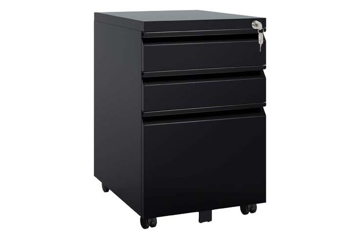 DEVAISE 3 Locking File Cabinet