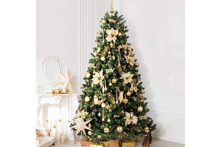 LIFEFAIR Christmas Tree With 360 LED Lights