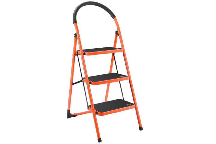 LUISLADDERS Folding 3 Step Ladder