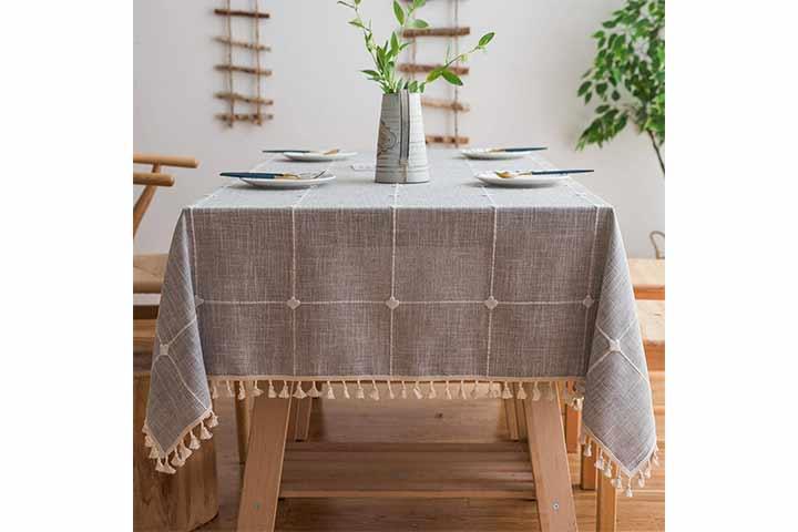 Mokani Linen Embroidery Tablecloth