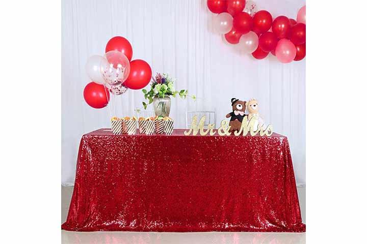 QueenDream Seamless Sequin Tablecloth