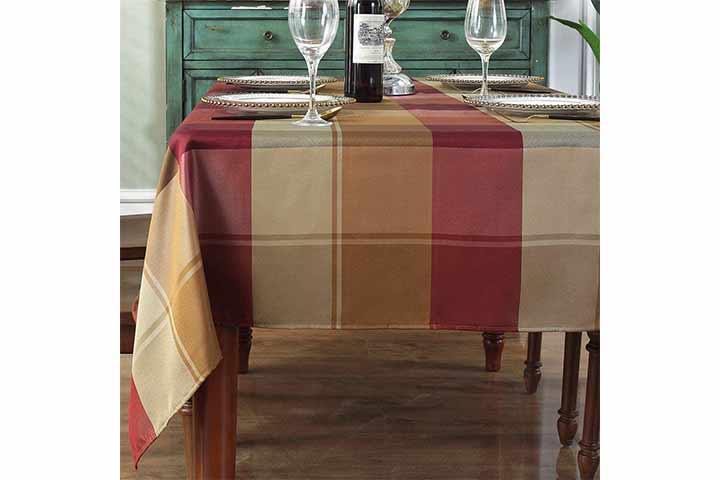 Sastybale Checkered Tablecloth