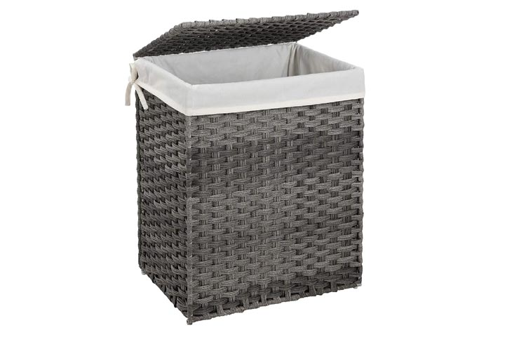 Songmics Handwoven Laundry Hamper