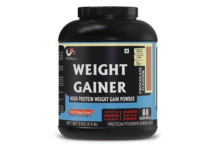 Strava Advance Muscle Mass High Protein Weight Gainer Supplement Powder