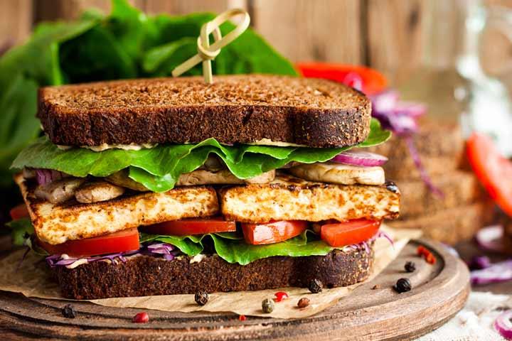 Tofu delight sandwich