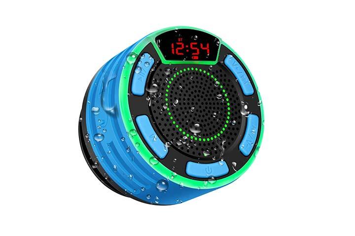 BassPal IPX7 Portable Wireless Shower Speaker