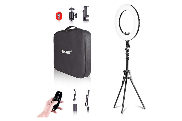 Emart 18-inch Ring Light With Stand