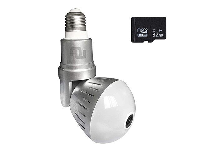 NUNET Nucam 380 LED Light Bulb Camera